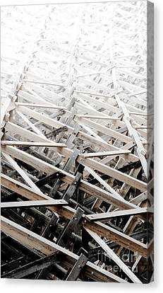 Trestle Stairway Kinsol Trestle Framwork Abstract To Distance Canvas Print by Andy Smy