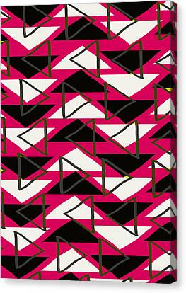 Triangles Canvas Print by Louisa Knight