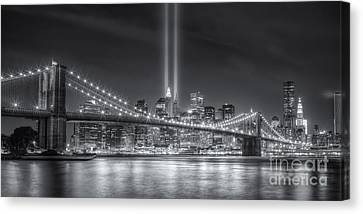 Tribute In Light Vi Canvas Print by Clarence Holmes