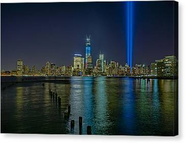Tribute In Lights Canvas Print by Susan Candelario