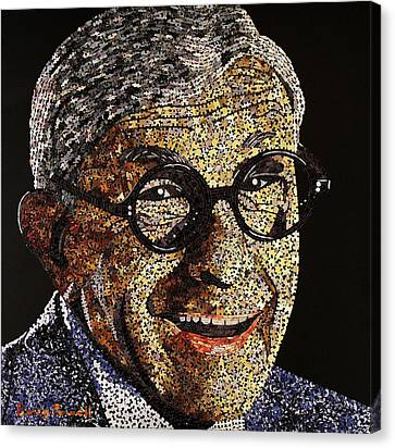 Tribute To George Burns Canvas Print by Doug Powell