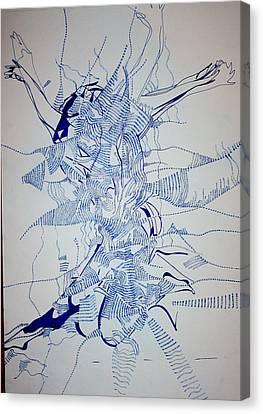 Triple Jump Canvas Print by Gloria Ssali