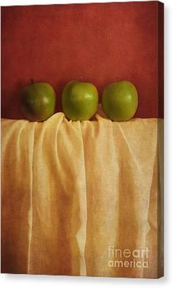 Trois Pommes Canvas Print by Priska Wettstein