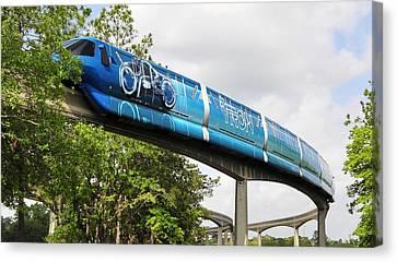 Tron A Rail Canvas Print by David Lee Thompson