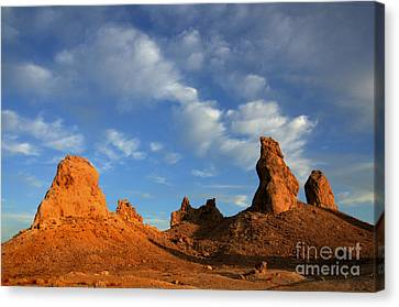 Trona Pinnacles Golden Hour Canvas Print by Bob Christopher