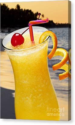 Tropical Orange Drink Canvas Print by Elena Elisseeva