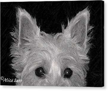Trouble Canvas Print by Alice Lero