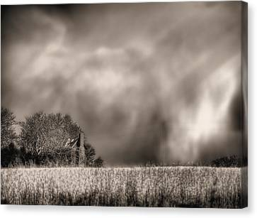 Trouble Brewing Bw Canvas Print by JC Findley