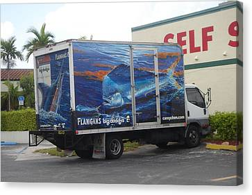 Truck Wraps Canvas Print by Carey Chen