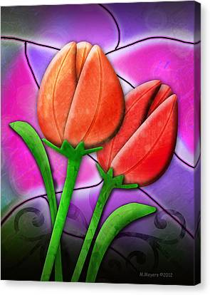 Tulip Glass Canvas Print by Melisa Meyers