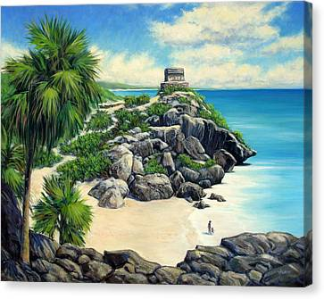 Tulum Ruins Mexico Canvas Print by Vickie Fears