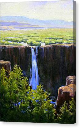 Tumbling Falls Co Canvas Print by Vickie Fears