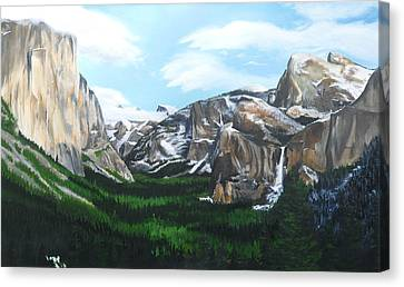 Tunnel View Canvas Print by Travis Day