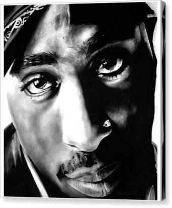 Tupac Canvas Print by Brian Curran
