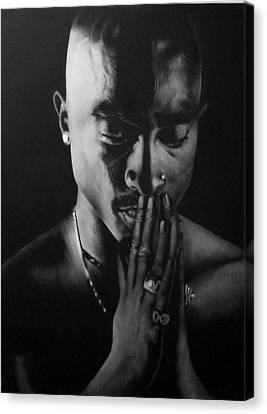 Tupac  Canvas Print by Eternal  Stylez