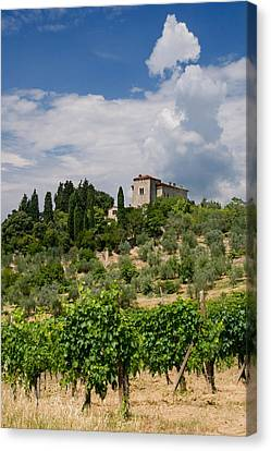 Tuscany Villa In Tuscany Italy Canvas Print by Ulrich Schade
