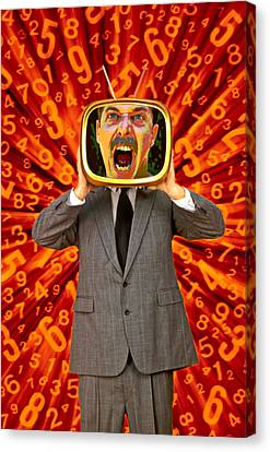 Tv Man Canvas Print by Garry Gay