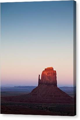 Twilight In The Valley Canvas Print by Dave Bowman