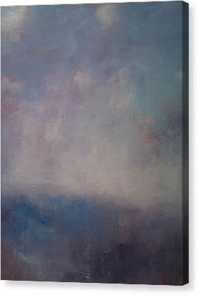 Twilight Mist Over The Arreton Valley Canvas Print by Alan Daysh