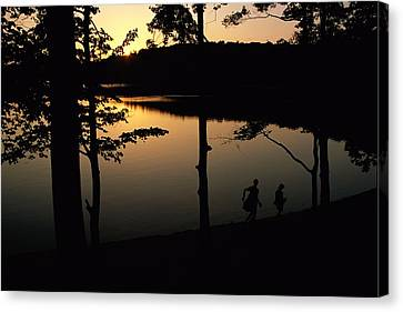 Twilight Over Walden Pond, Made Famous Canvas Print by Tim Laman