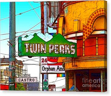 Twin Peaks Bar In San Francisco Canvas Print by Wingsdomain Art and Photography