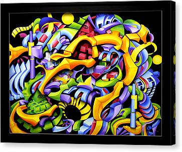 Twisted Blackout Canvas Print by Jason Amatangelo
