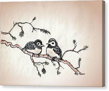 Two Birds Canvas Print by Wendy McKennon