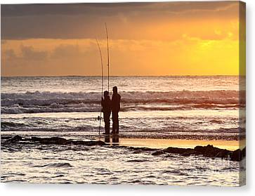 Two Fisherman Canvas Print by Carlos Caetano
