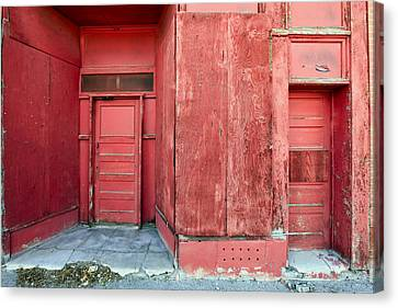 Two Red Doors Canvas Print by James Steele