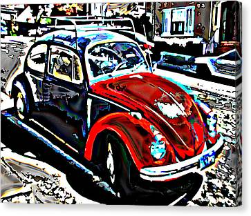 Two Toned Vw Beetle Canvas Print by Samuel Sheats