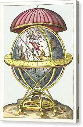 Tycho's Great Brass Globe Canvas Print by Detlev Van Ravenswaay