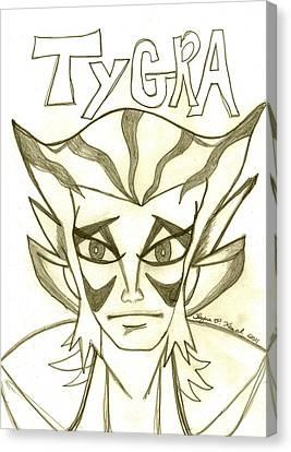 Tygra Canvas Print by Shayna  Keach