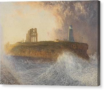 Tynemouth Pier Canvas Print by Alfred William Hunt