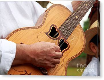 Typical Azores Guitar Canvas Print by Gaspar Avila