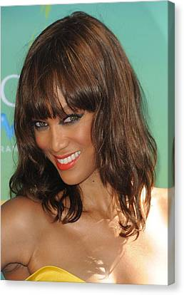 Tyra Banks At Arrivals For 2011 Teen Canvas Print by Everett