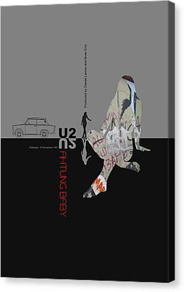 U2 Poster Canvas Print by Naxart Studio