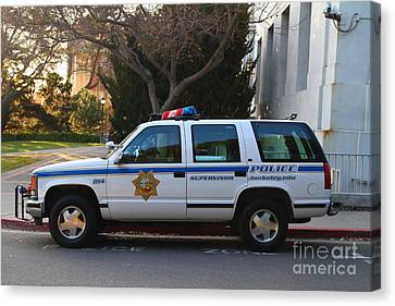 Uc Berkeley Campus Police Suv  . 7d10182 Canvas Print by Wingsdomain Art and Photography