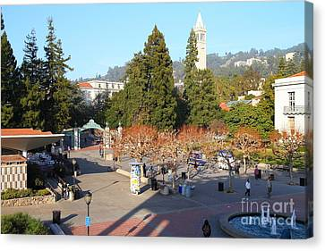 Uc Berkeley . Sproul Hall . Sproul Plaza . Sather Gate And Sather Tower Campanile . 7d10016 Canvas Print by Wingsdomain Art and Photography