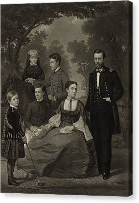 Ulysses S. Grant With His Family When Canvas Print by Everett