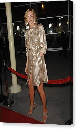 Uma Thurman At Arrivals For Ceremony Canvas Print by Everett