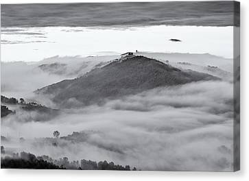 Umbrian Mist Canvas Print by Michael Avory