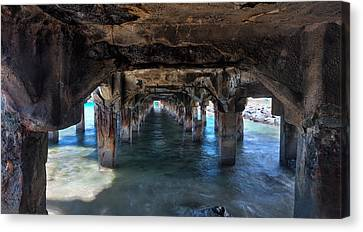 Under The Boardwalk Canvas Print by James Roemmling