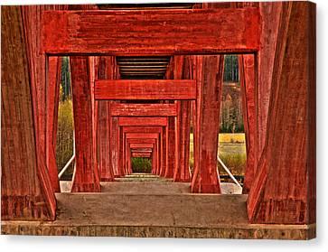 Under The Bridge Canvas Print by Micael  Carlsson
