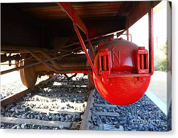 Under The Old Western Pacific Caboose Train . 7d10722 Canvas Print by Wingsdomain Art and Photography