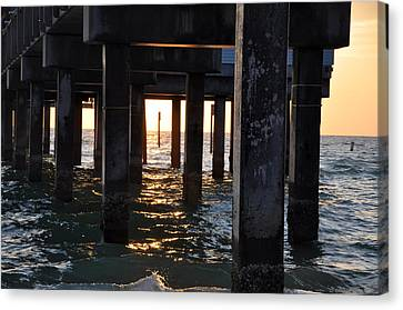 Under The Pier Canvas Print by Bill Cannon