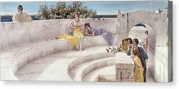 Under The Roof Of Blue Ionian Weather Canvas Print by Sir Lawrence Alma-Tadema
