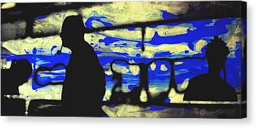 Underground - People Silhouette Serigraphic Arts Canvas Print by Arte Venezia