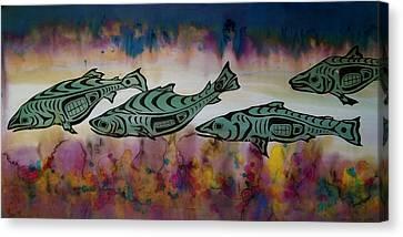 Underwater Color Canvas Print by Carolyn Doe