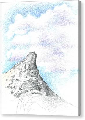 Unicorn Peak Canvas Print by Logan Parsons