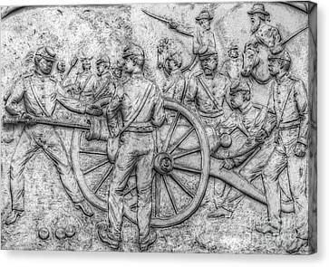 Union Artillery Civil War Drawing Canvas Print by Randy Steele
